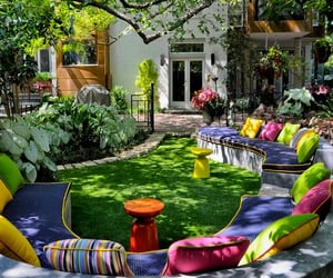 backyard and outdoor seating image