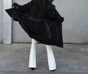 everyday look, fashionista fashionable, and long black coat image