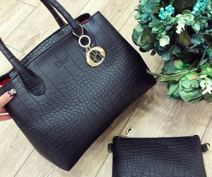 bags, black, and dior image