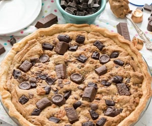 caramel, chocolate bar, and candy bar pie image