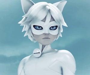 black cat, blue eyes, and evil image