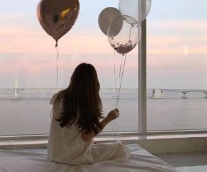 aesthetic, balloons, and girl image