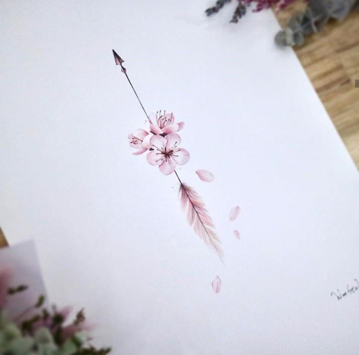 arte, ilustracion, and rosa image
