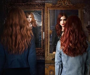 clary fray, lily collins, and shadowhunters image