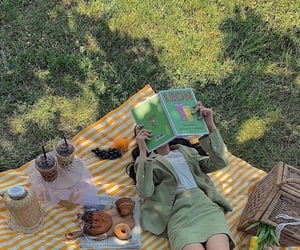 picnic, girl, and green image