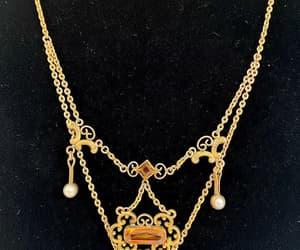 Antique Edwardian Festoon Necklace Art Nouveau Gold Filled image 0