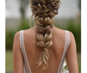 blond, braid, and brown image