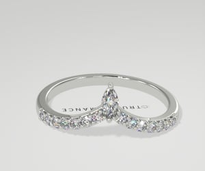 crown diamond rings, crown engagement rings, and crown wedding band image