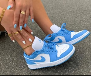 nike, blue, and nails image