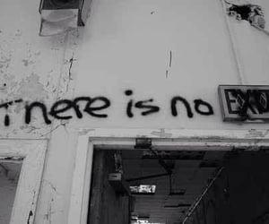 exit, grunge, and dark image