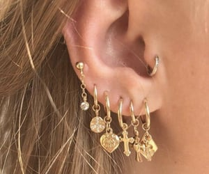 earring, tragus, and ear image