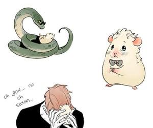 angel, snake, and aziraphale image