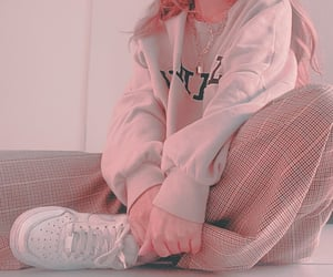 baby pink, peach, and pink image
