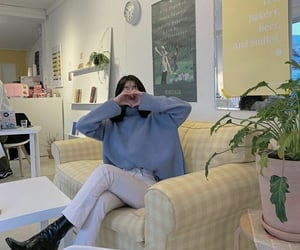 boots, coffee shop, and fashion image