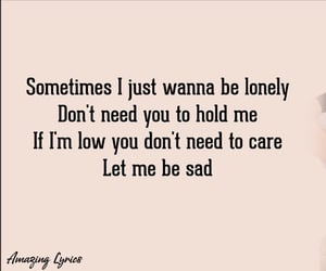 lonely, quote, and pink image