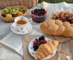 autumn, berries, and croissant image
