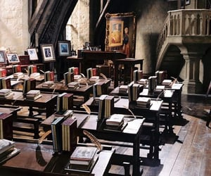 harry potter, hogwarts, and classroom image