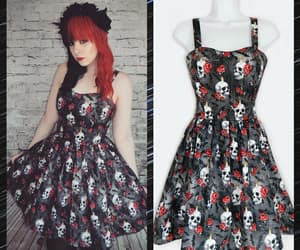 alternative, floral dress, and grunge image