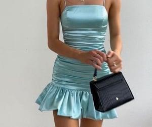 fashion, blue, and girly image