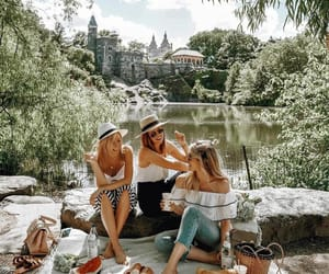 friends, friendship, and picnic image