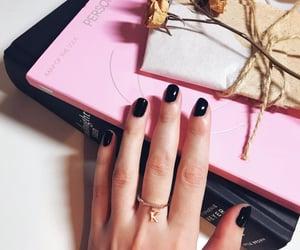 black, nails, and persona image