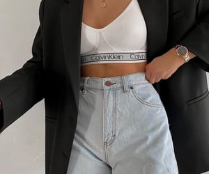 black, blazer, and fashion image