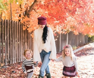 fall, sweaters, and leaves image