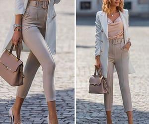 beige, blazer, and fashion image