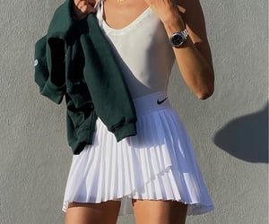 green sweater, everyday look, and cute summer outfit image