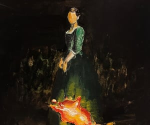 feminism, girl, and fire image
