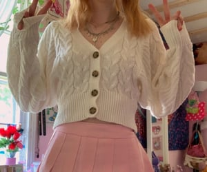 <3, outfit, and pink image