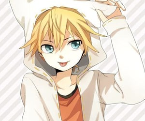 anime, blonde hair, and blue eyes image
