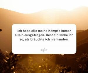 allein, deutsch, and zitat image
