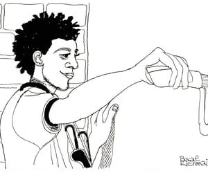 art, caricature, and cartoon image