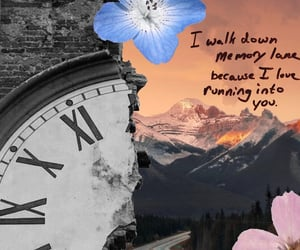 clock, mountain, and time image