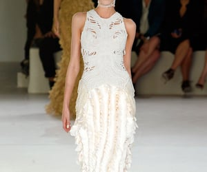 Alexander McQueen, fashion show, and dress image