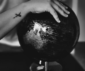 tattoo, world, and plane image