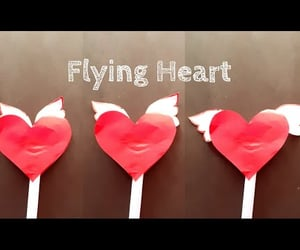 heart, paper heart, and diy heart image