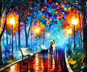 art, painting, and couple image