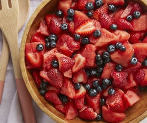 blueberries, fruit, and salad image