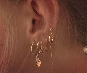 earrings, jewelry, and piercing image
