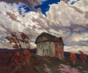autumn, polish art, and house image