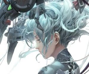 anime, cyborg, and game image