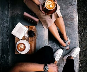 chill, coffee, and couples image