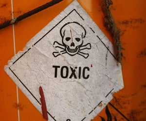chemical, words, and crossbones image