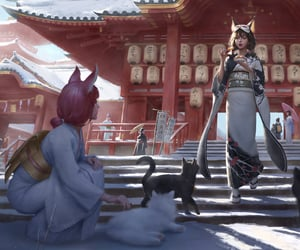 ancient, catgirls, and japan image