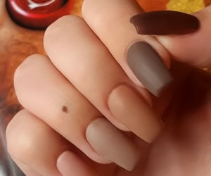 acrylics, autumn, and nude nails image