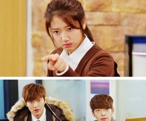 drama, lee min ho, and park shin hye image
