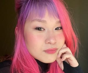 asian girl, colored hair, and cabelo colorido image