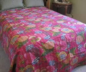 etsy, antique quilt, and floral quilt image